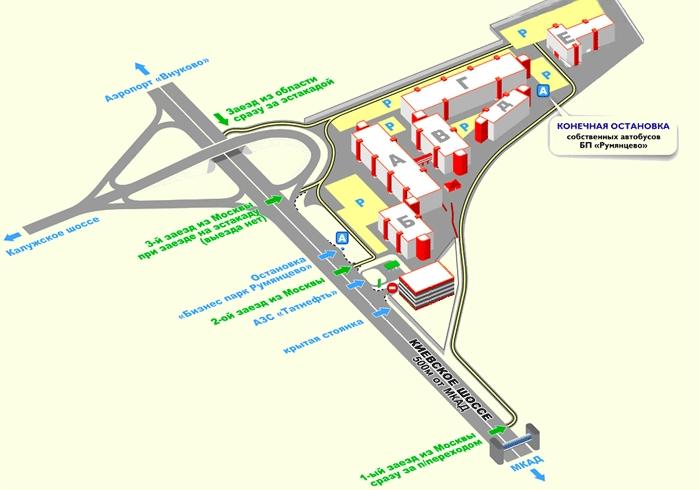 Схема проезда: Глубинный 3D